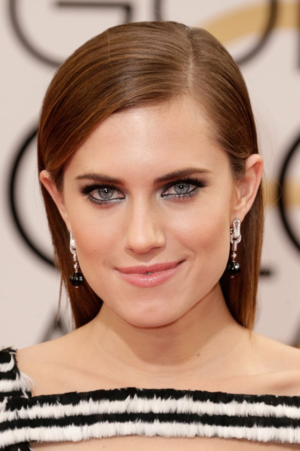 <strong>SLEEK HAIR<BR></strong> Girls star, Allison Williams looked chic with her brunette locks straight, and tucked neatly behind the ear.