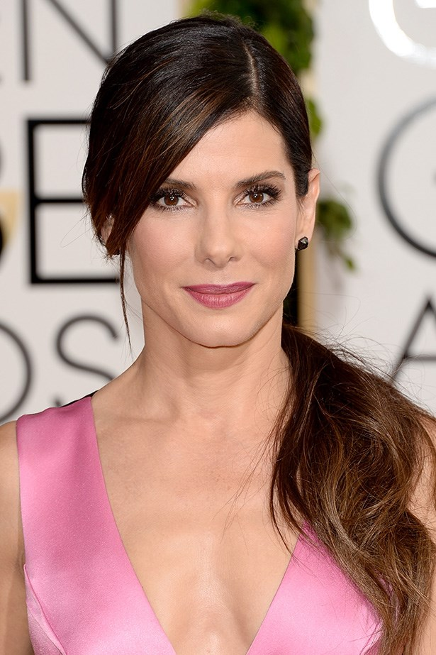 <strong>SIDE PARTS<BR></strong> Best Actress nominee Sandra Bullock wore a low, side parted ponytail.