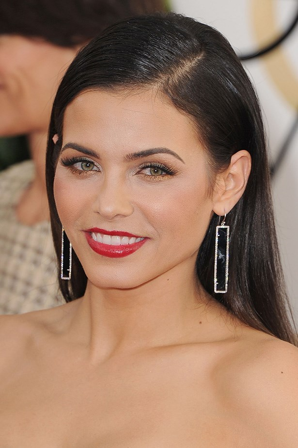 <strong>RED LIPS<BR></strong> Glamorous new mum Jenna Dewan attended the Globes with hubby, Channing Tatum.