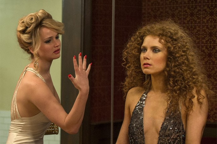 Jennifer Lawrence and Amy Adams in American Hustle