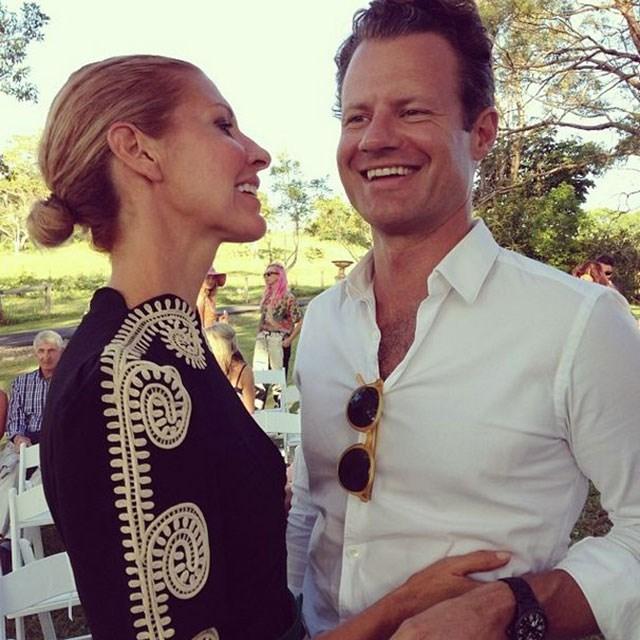 Sass & Bide's Heidi Middleton shares a laugh with husband Nico Plowman.