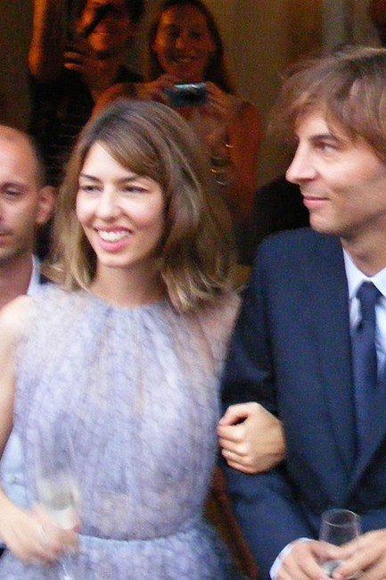Sofia Coppola In 2011, award-winning director Sofia Coppola chose a short, lilac Azzedine Alaia dress for her nuptials to Thomas Mars.
