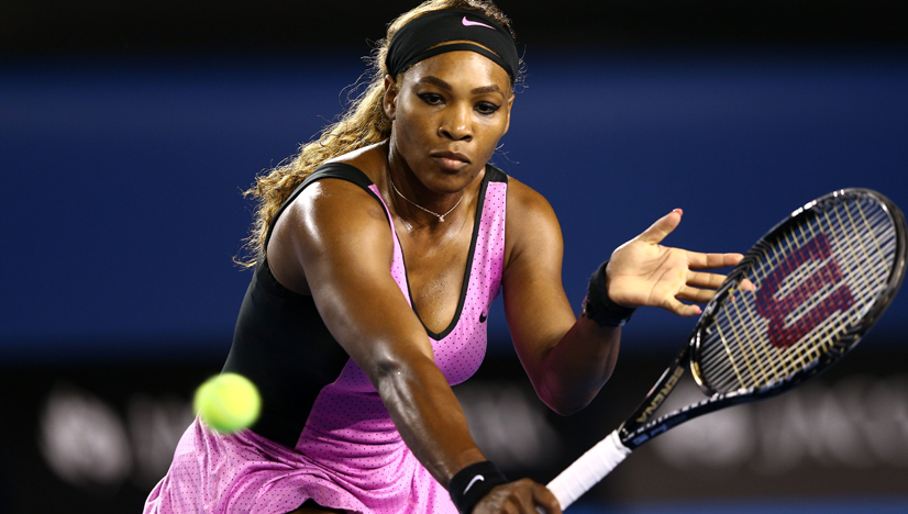 Serena Williams wears Nike and Berlei bra at the Australian Open