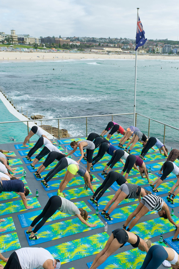 Yoga by the Sea at Stylerunner's X Nike launch in Bondi