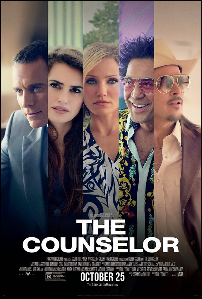 <strong>The Counselor</strong><br> Ridley Scott's star-studded thriller saw Fassbender working alongside Brad Pitt (also his co-star in <em>12 Years A Slave</em>), Cameron Diaz, Penelope Cruz and Javier Bardem. He took on the role of a corrupt lawyer hoping to make some fast cash by getting involved in a drug deal with the kind of criminals he's used to representing. We were happy to sit through two hours of him in a suit.