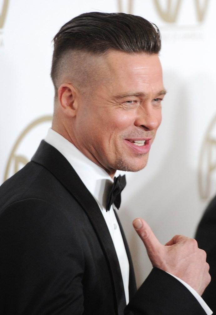 Brad Pitt explains his edgy new hairstyle