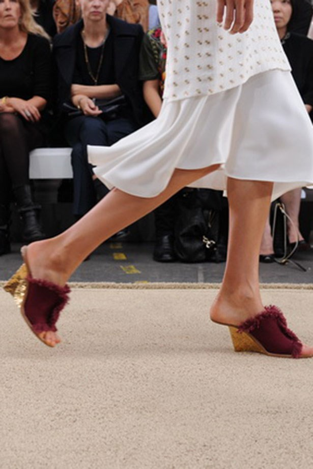 <p><strong>M is for mules</strong></p> <p>The latest It-shoe silhouette to go gaga over? The mule. Spotted at Tibi, Rochas, Chloé and Stella McCartney, try slipping your foot into the style, pronto.</p> <p>Look by Chloé</p>