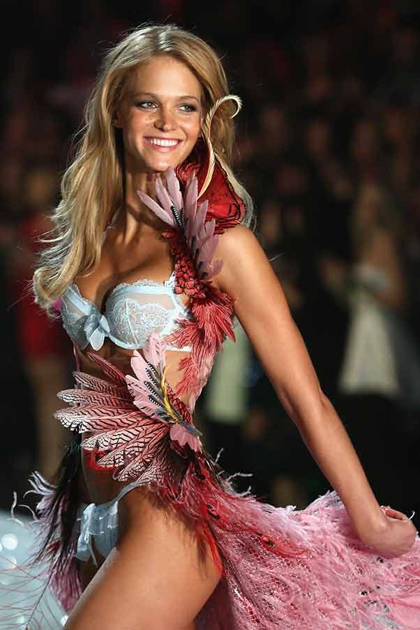 Angel Erin Heatherton walks in the Victoria's Secret Parade