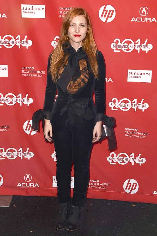 Not even 100 layers can suppress the sex appeal of French actress and model Josephine de La Baume at the première of 'Listen Up Philip'.