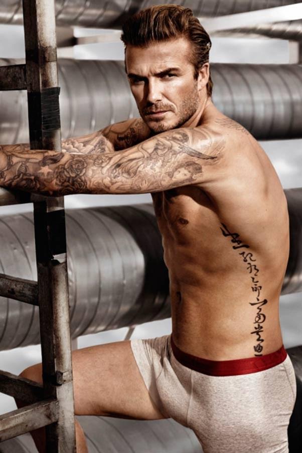David Beckham strips for new HM shots