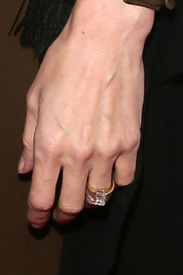 <p><strong>Angelina Jolie</strong></p> <p>It took Brad Pitt the best part of a year to design a ring for Ange. The finished product, made by jeweller Robert Procop, features a rectangular-shaped diamond surrounded by smaller ribbed diamonds and is said to be worth a cool million.</p>