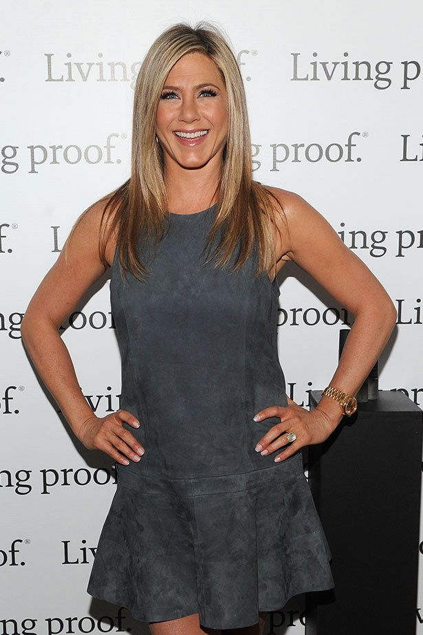 <p><strong>Jennifer Aniston</strong></p> <p>Now that's a rock. The emerald-cut diamond on Jen's sparkler from Justin Theroux is thought to be a whopping eight carats, while the yellow gold band was a nice departure from the usual white gold.</p>