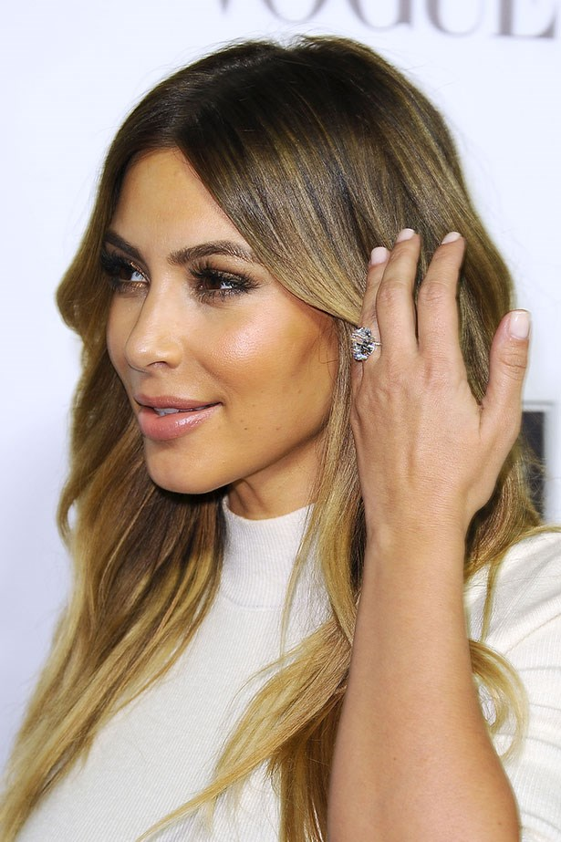 <p><strong>Kim Kardashian</strong></p> <p>Just because this will be her third marriage does not mean the reality star's rings are getting any smaller. In fact, it was the exact opposite when Kanye West popped a 15-carat, emerald-cut diamond ring created by celebrity jeweller Lorraine Schwartz on Kardashian's hand.</p>