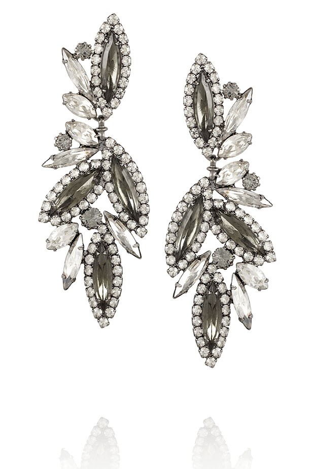"""<p><strong>Good things come in small packages: </strong></p> <p>Add sparkle to your look with these elegant Elizabeth Cole earrings.</p> <p>Earrings, $171, Elizabeth Cole, available at <a href=""""http://www.theoutnet.com"""">THE OUTNET.COM</a>"""