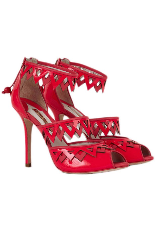 """<p><strong>Go beyond the traditional Valentine's day gift idea:</strong></p> <p>An original gift this Valentine's Day is a fashion-forward pair of heels by British designer, Sophia Webster. As the former assistant to celebrated shoemaker Nicholas Kirkwood and one of our new brands at THE OUTNET, she really has put fun into footwear!</p> <p>Frida Sandals, $472, Sophia Webster, available at <a href=""""http://www.theoutnet.com"""">THE OUTNET.COM</a>"""