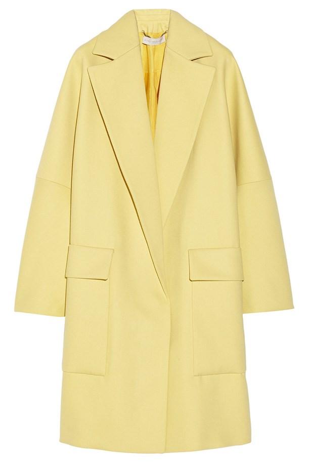 Try a pop colour coat this winter. Coat, approx $2250, Stella McCartney, net-a-porter.com