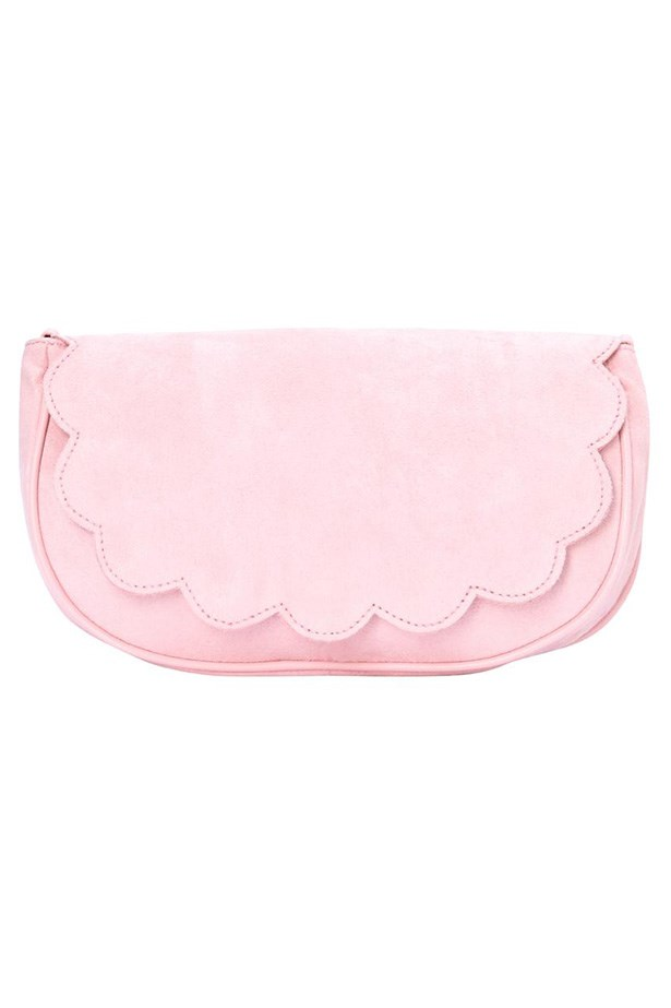 Pastels and scalloping work perfectly together. Clutch, $69.95, French Connection, frenchconnection.com.au