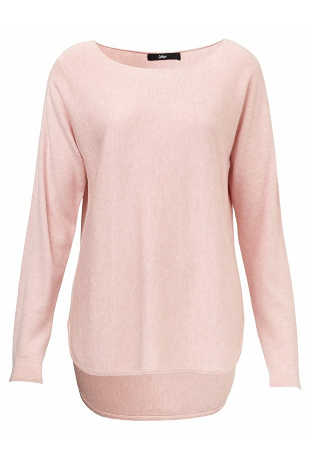 Opt for a pastel sweater instead of classic grey marle. Sweater, $69.95, Sportsgirl, sportsgirl.com.au