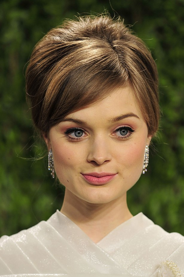 The Australian's retro-chic up-do was a hit at the 2013 Vanity Fair Oscar Party.