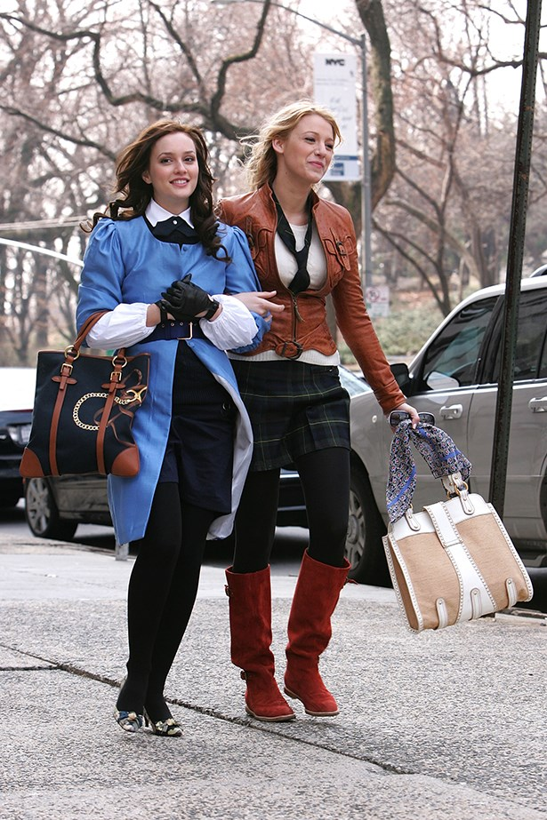 <p><strong>Gossip Girl</strong></p> <p>In the red corner we had Serena van der Woodsen, with her short-hemmed, slim-fit, slightly boho ensembles, and in the blue corner was loyal label-lover Blair Waldorf who favoured tailored classics, tights and headbands. So much to love.</p>