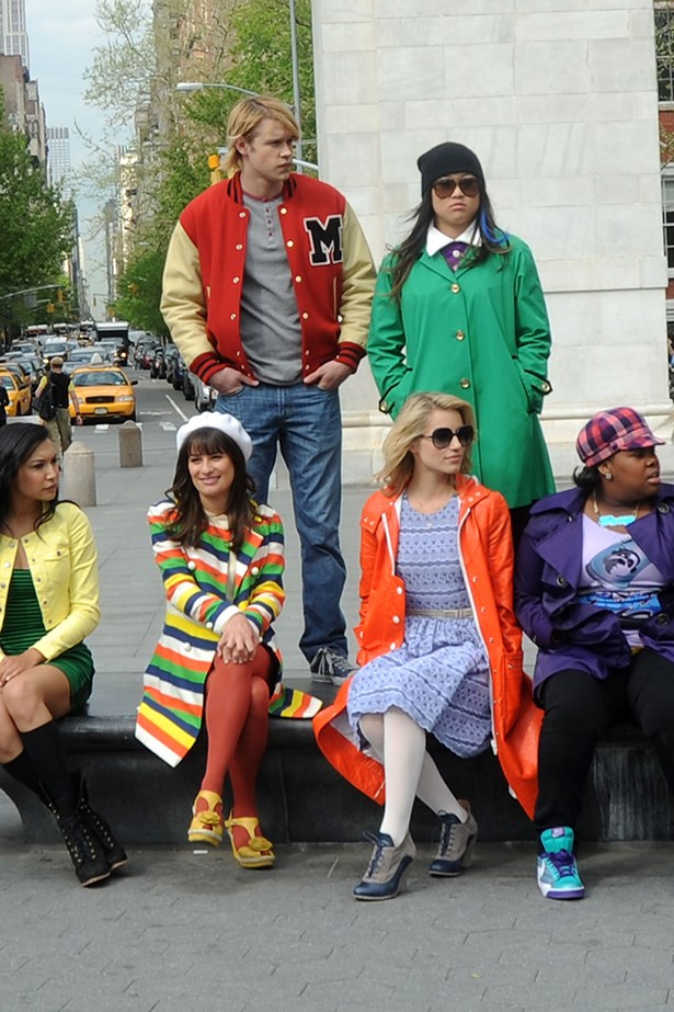 <p><strong>Glee</strong></p> <p>Yes, it was about the singing and dancing, but it was also about going back to high-school. Rachel, in her preppy cardigans and pleated skirts, Quinn in girlie florals and pastels (when she wasn't in her cheerl uniform), Mercedes in her jeans, sweaters and hi-tops and principal Sue Sylvester's plethora of tracksuits.</p>