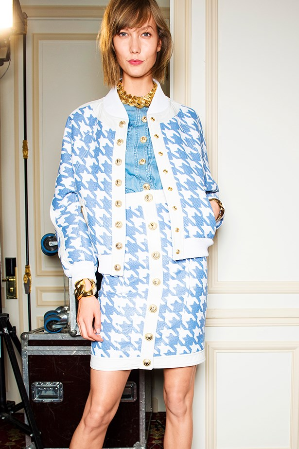 <p><strong>The cocoon jacket</strong></p> <p>Part biker, part bomber, the rounded-shoulder jacket is your cover-all.</p> <p>Balmain SS14</p>
