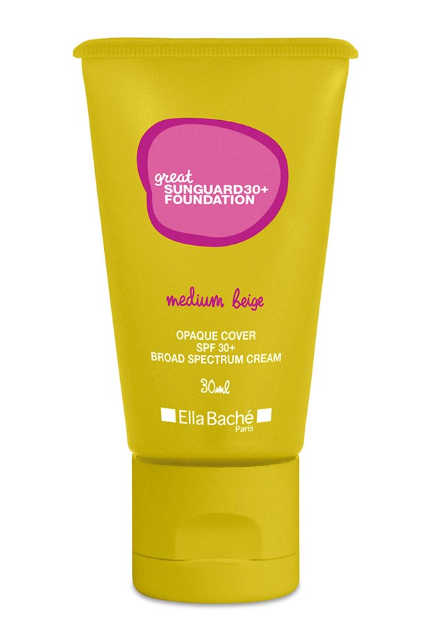 """Great 30+ Sunguard Foundation , $46, Ella Bache, <a href=""""http://ellabache.com.au"""">ellabache.com.au</a> Sunguard gives foundation-like coverage for those with uneven skin tone, and packs enough SPF to protect from over exposure- which can make uneven tone worse."""