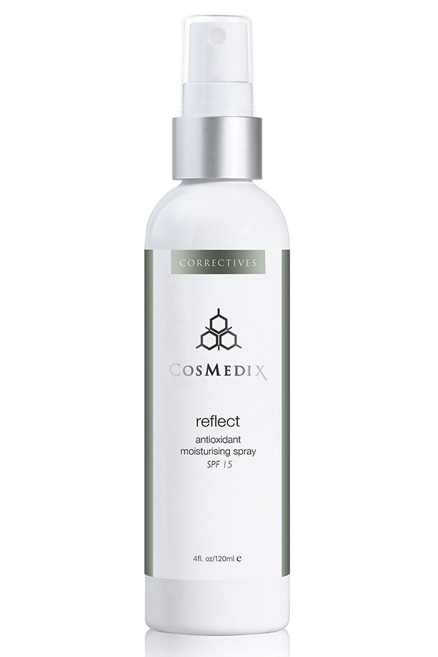 Reflect Oil Free Moisturizing Spray SPF15, $72.60, CosMedix, 1800 648 851 A light spritz of moisture for dehydrated skin also provides sun protection via antioxidant ingredients.