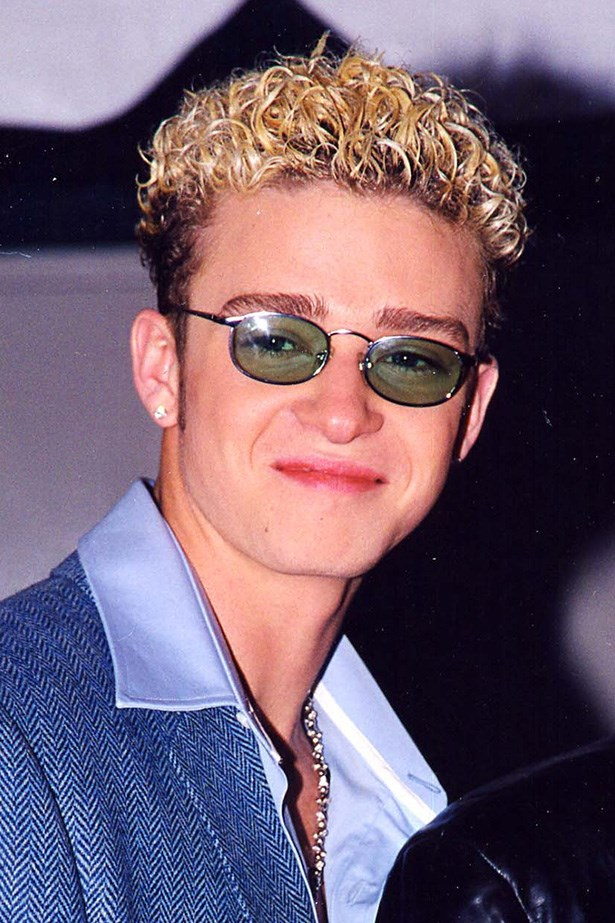 Justin Timberlake; when wearing tinted glasses indoors was OK, as was a dye tideline during his 'N Sync days.