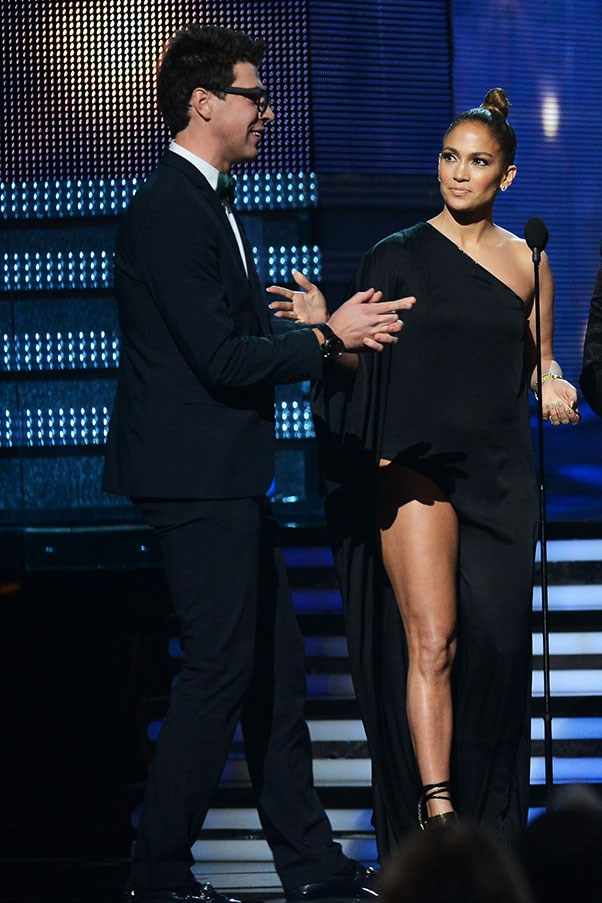 February, 2013 – On stage at the Grammys <br> Vitalii took to the stage just as Adele was receiving her Grammy to tell her how much he loves her. As you can see from J-Lo's expression, he was <i>not</i> meant to be there.