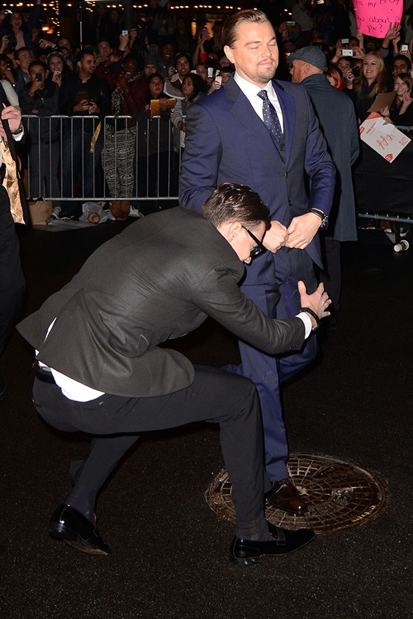 February 2014 – At The Cinema Vanguard Award Honoring Martin Scorsese And Leonardo DiCaprio<br> Leo didn't know what hit him when Vitalii came to offer his very own brand of 'congratulations' at the Santa Barbara International Film Festival.