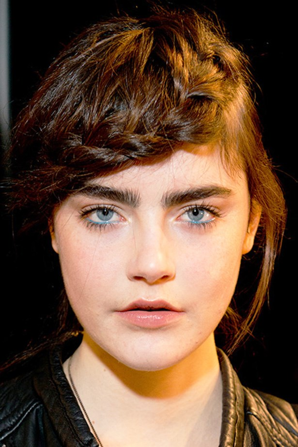 Blue eyeliner was spotted at the Haute Couture shows