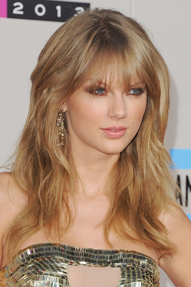 The pop-princess' hair last year at the AMAs – sporting a voluminous blowout and a fringe.