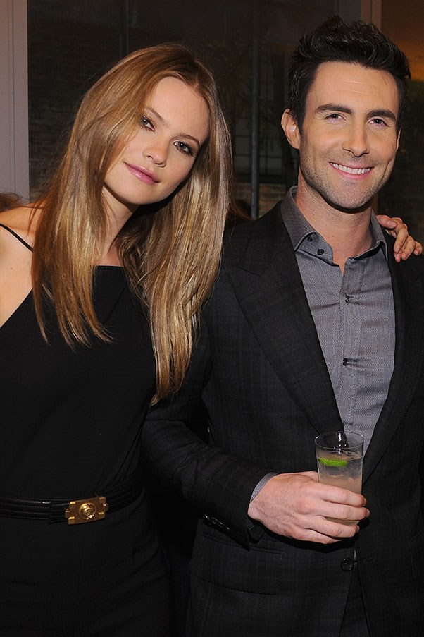 WHO: Behati Prinsloo and Adam Levine <br> THE DATE: A private jet ride to a secret location for an intimate waterside dinner and a night in a penthouse with a rotating bed.