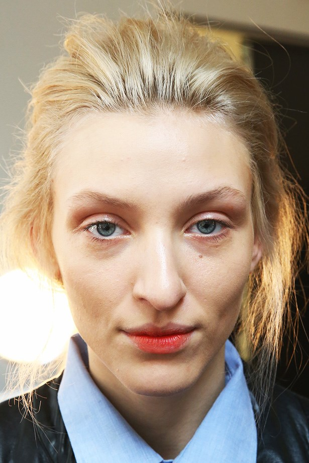 <strong>Berry lips<BR></strong> Jenny Packham's AW14 'bitten lip' was created by the team at Laura Mercier.