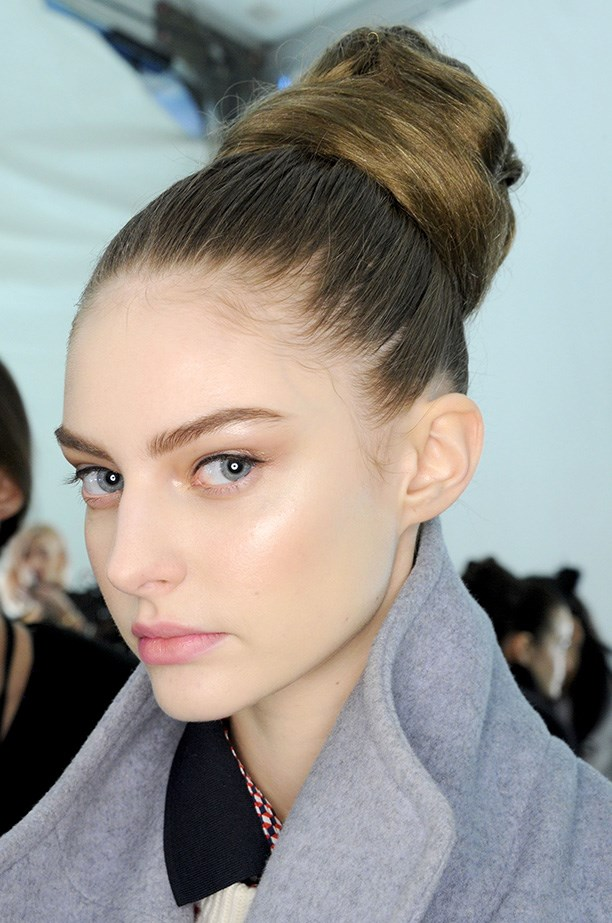 <strong>Structural up-do<BR></strong> Elaborate up-dos for Carolina Herrera's show were designed by Orlando Pita.