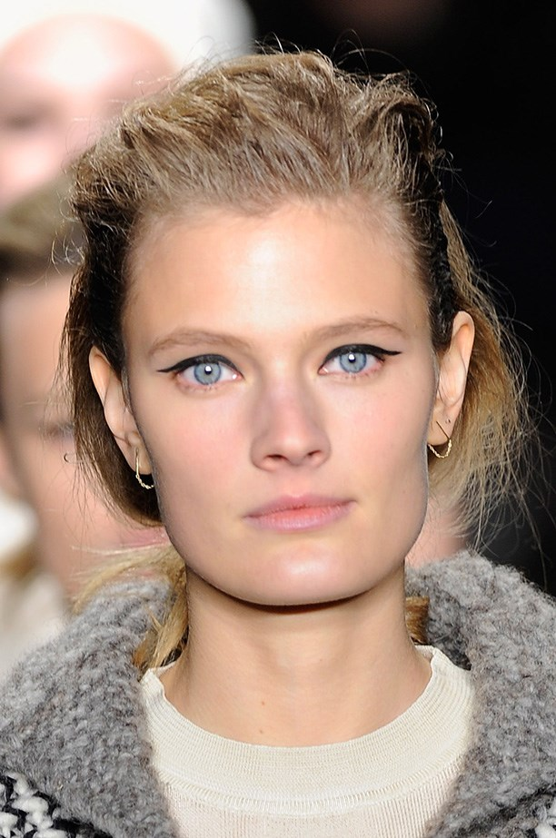 <strong>The new winged liner<BR></strong> Westman worked with Rag & Bone (she's married to designer David Neville) to create the illusion of floating liquid eyeliner.