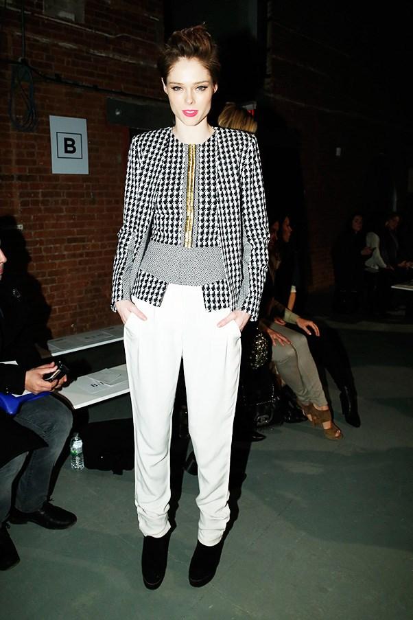 Coco Rocha at Sass and Bide fashion show in New York