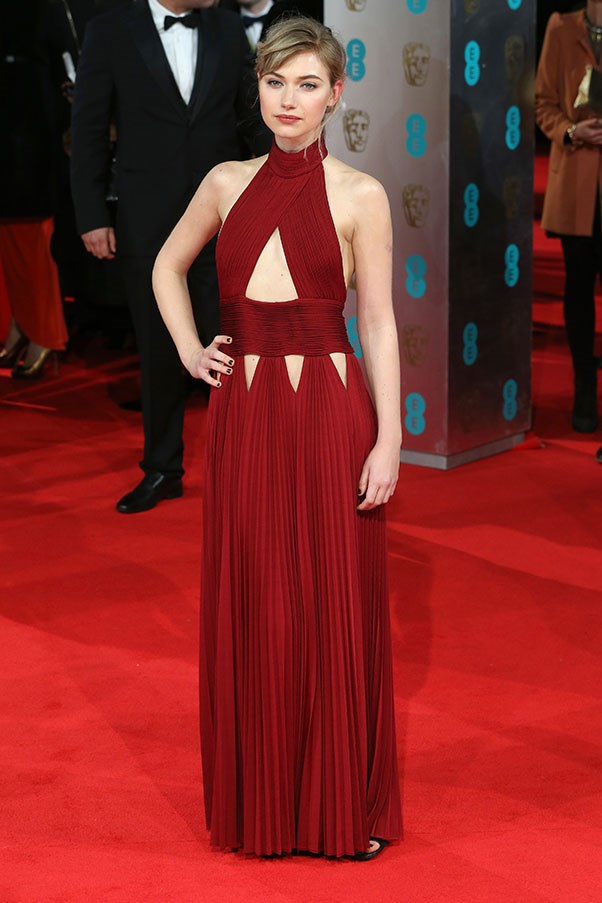 Doe-eyed Imogen Poots showed off her sultry side in a cutaway Givenchy gown.