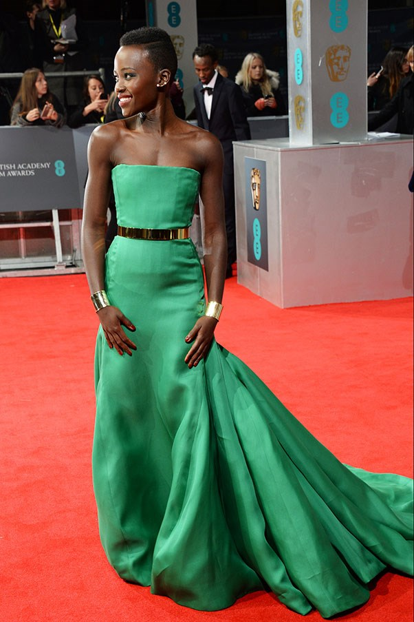 Dior are really pushing Lupita Nyong'o's growing reputation as 'the next J Law' by putting her in an emerald gown from winter couture, that's similar in cut to the one Lawrence wore to win her Oscar. As far as we're aware, Luptia avoided stacking it at any point – although Lawrence (who wasn't in attendance) did beat her for Best Supporting Actress.