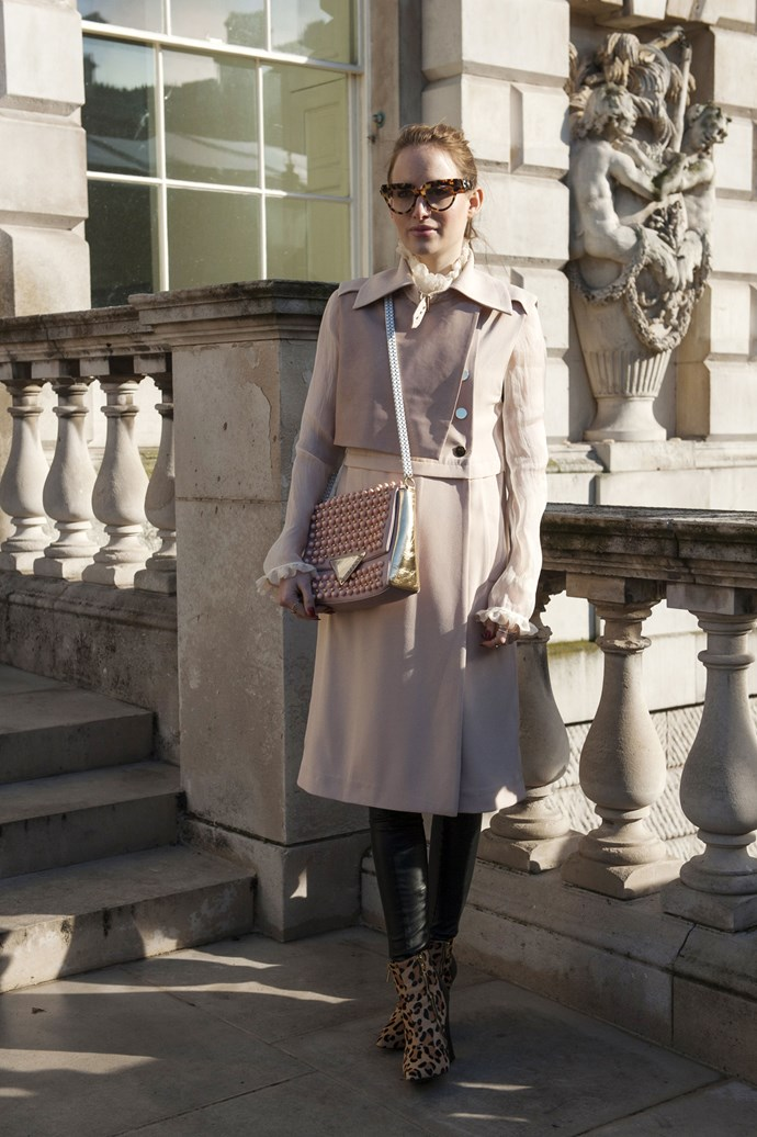 Style for style: a camel trench and neckerchief never dates