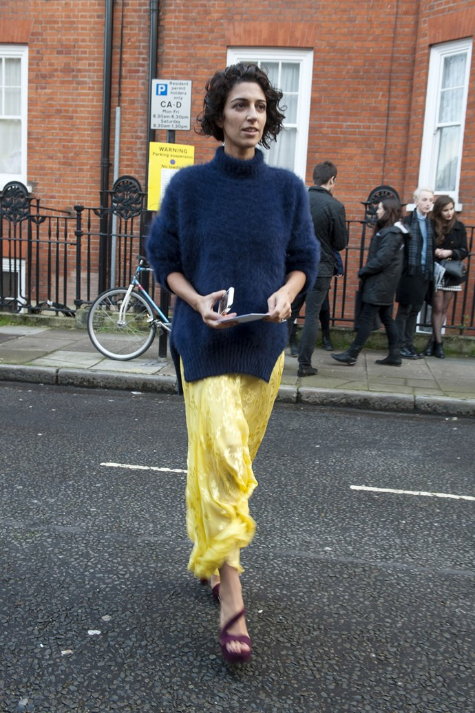 Yasmin Sewell never sets a colourful designer-clad foot wrong in the street style stakes
