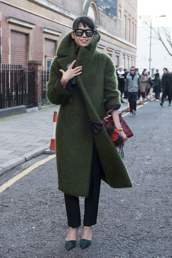 Embrace tonal olive for a cosy, military look