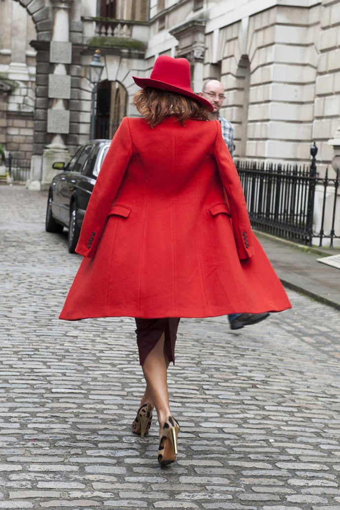 There's nothing like a red felt fedora to add a touch of screen siren chic to your outfit