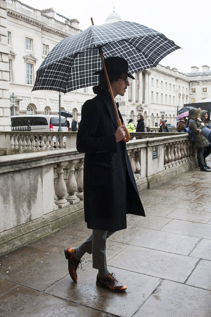 Check please! Style your winter wardrobe with an on-trend gingham umbrella