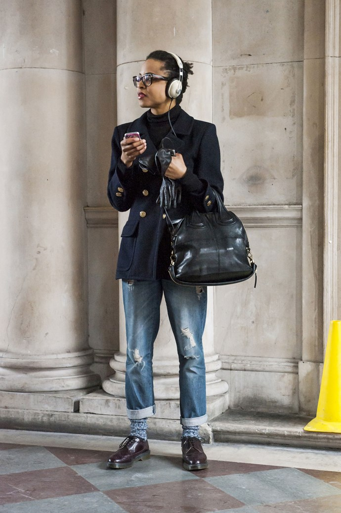 Denim and black, the go-to outfit of choice for the international fash-pack