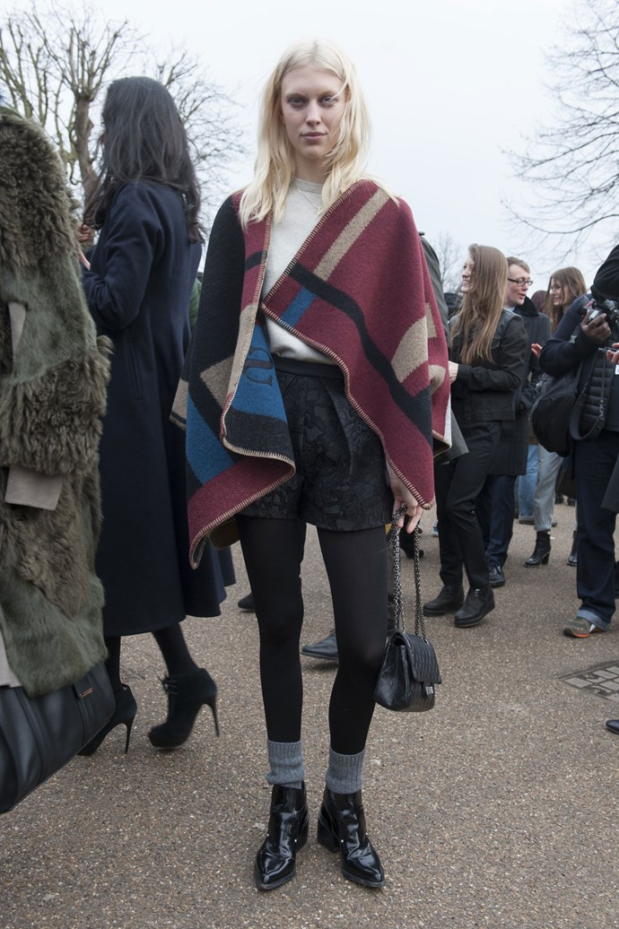 Burberry's blanket look is spreading...