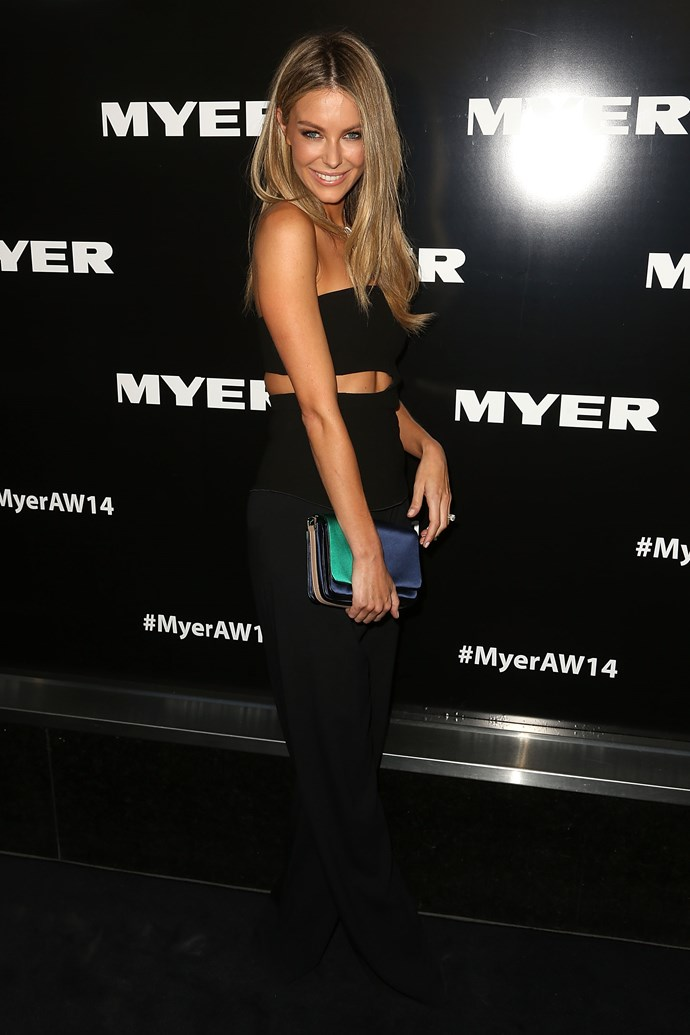 Jennifer Hawkins at the Myer AW14 fashion show in Melbourne