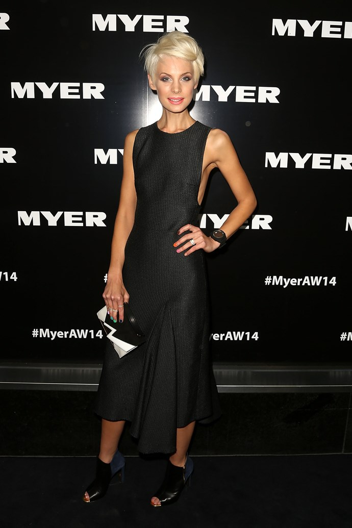 Kate Peck at the Myer AW14 fashion show in Melbourne