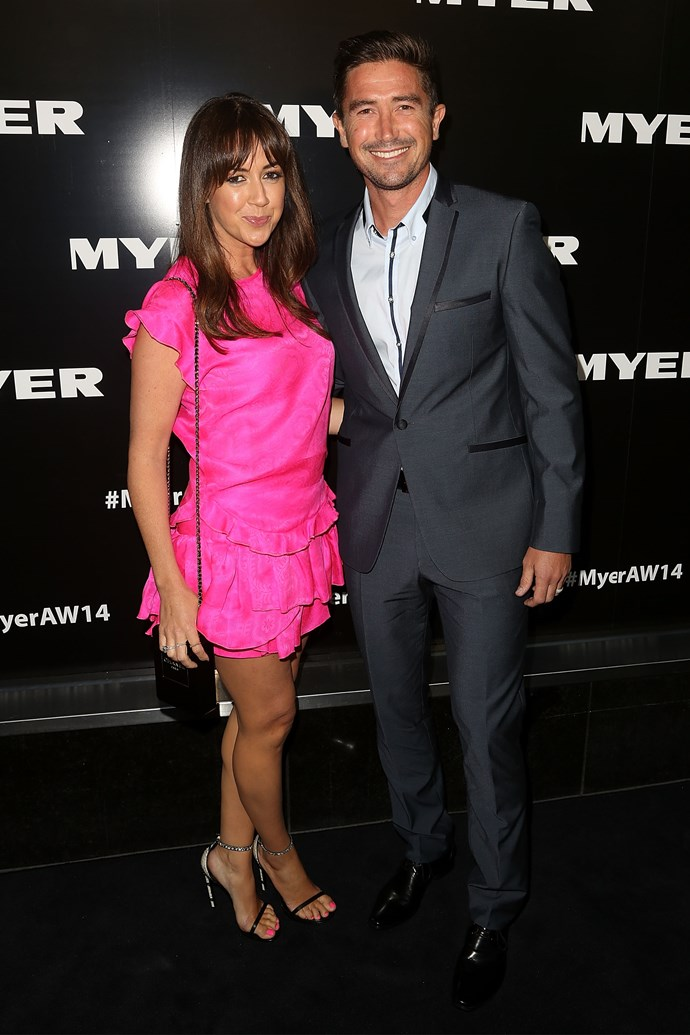 Sheree Murphy and Harry Kewell at the Myer AW14 fashion show in Melbourne